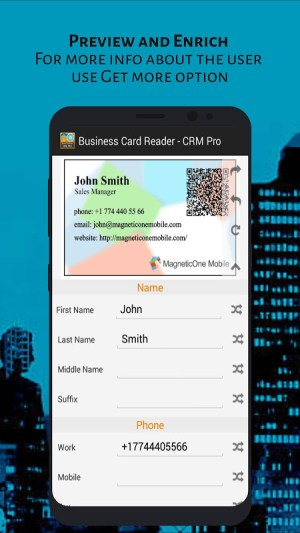 Android Business Card Reader - CRM Pro Screen 6