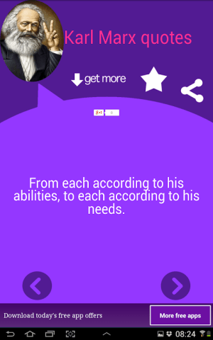 Android Karl Marx Quotes Screen 2