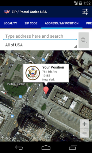 ZIP / Postal Codes USA 1.0.5 Screen 2