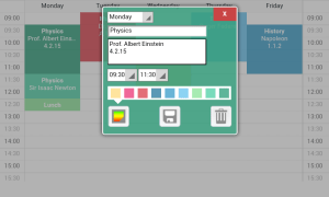 Timetable 0.0.14 Screen 1