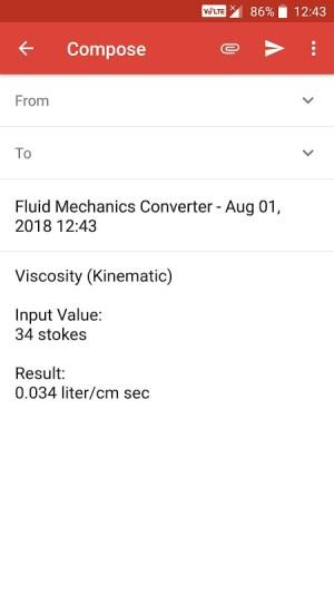 Android Fluid Mechanics Converter Screen 6