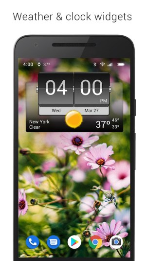 3D Flip Clock & Weather Ad-free 5.76.2.1 Screen 2