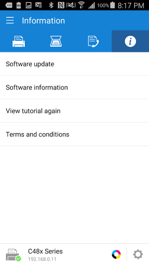 Samsung Mobile Print 4.08.013 Screen 3