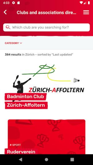 Localcities. Swiss municipalities 5.0.1 Screen 5