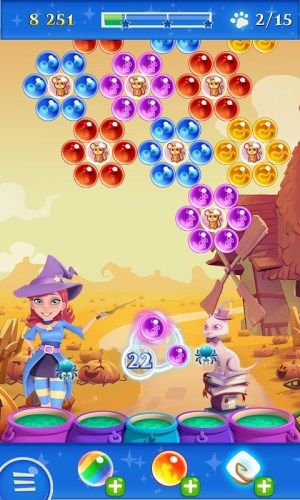 Android Bubble Witch 2 Saga Screen 5