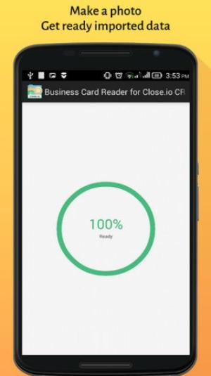 Close CRM Business Card Reader 1.1.145c Screen 1