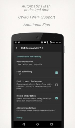 CM Downloader 2.4.1 Screen 3