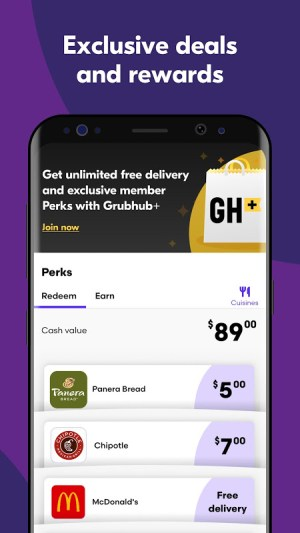 Grubhub: Local Food Delivery & Restaurant Takeout 7.157 Screen 4