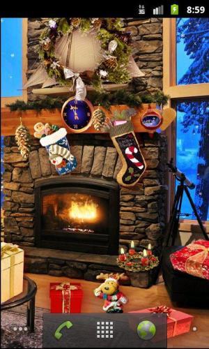 Christmas Fireplace LWP Full 1.81 Screen 7