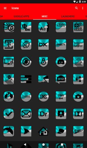 Half Light Cyan Icon Pack Free 2.3 Screen 13