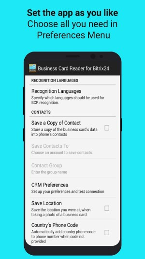 Android Bitrix24 CRM Business Card Reader Screen 4