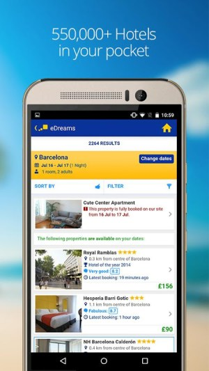 eDreams Travel: Cheap Flights, Hotels & Holidays 4.117.1 Screen 3