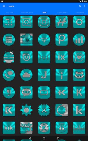 Cyan Icon Pack ✨Free✨ 3.8 Screen 10