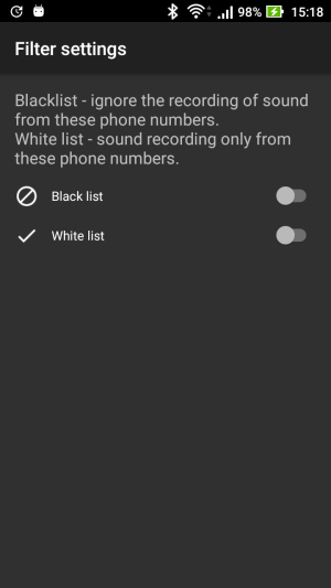 Universal Audio register Spy, recording by timer, Automatic call recording, hidden mode 1.8.5 Screen 3