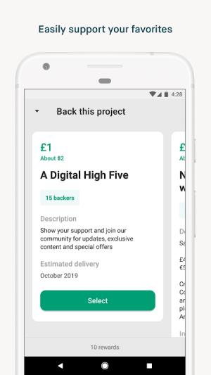 Kickstarter 2.12.0 Screen 2