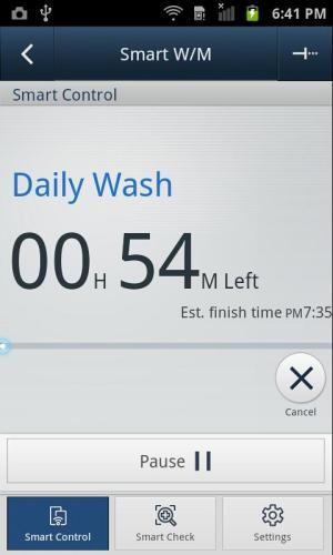 SAMSUNG Smart Washer/Dryer 2.1.37 Screen 3