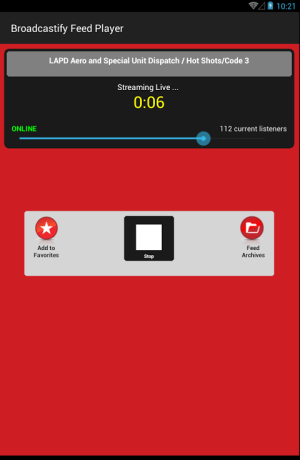 Broadcastify 1.0.9 Screen 7