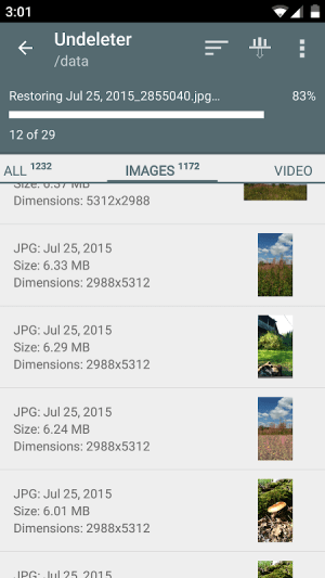 Undeleter Recover Files & Data 4.73 Screen 2