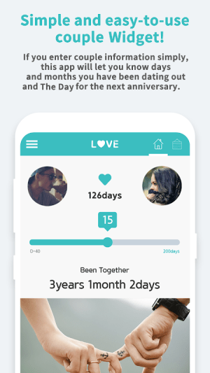 Couple Widget - Love Events Countdown Widget 1.00.30 Screen 1