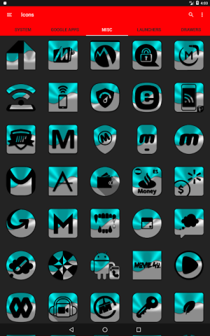 Half Light Cyan Icon Pack Free 2.3 Screen 16