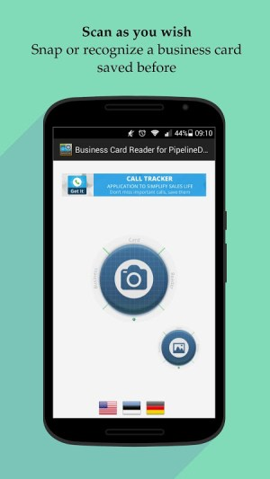 Android Business Card Reader for PipelineDeals CRM Screen 3