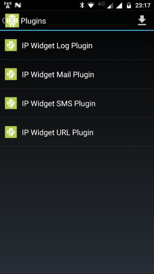 IP Widget Log Plugin 1.6.9 Screen 1