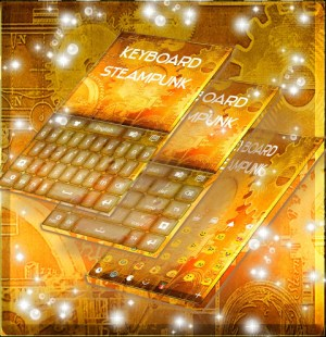 Android Steampunk Keyboard GO Screen 1