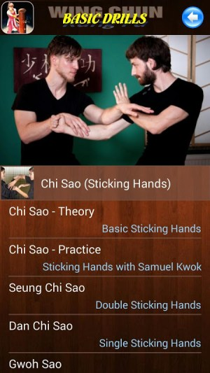 Android Wing Chun Kung Fu Screen 4
