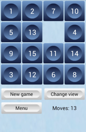 15 Puzzle 1.3.1 Screen 1