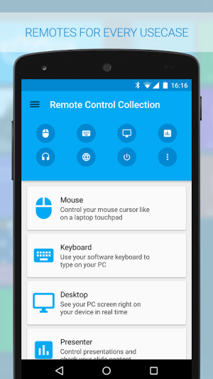 Android Remote Control Collection Screen 1