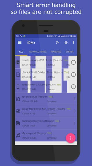 Android IDM+: Fastest Music, Video, Torrent Downloader Screen 5