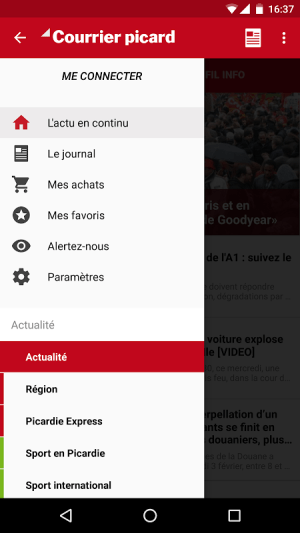 Courrier Picard 3.3.10 Screen 1