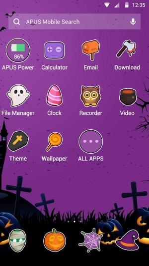 Android Happy Halloween night free theme🎃 Screen 1