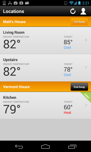 Thermostat 2.1.304 Screen 1