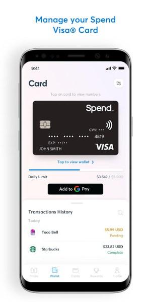 Spend App 3.06 Screen 1