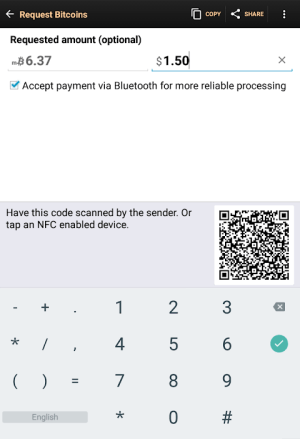 Bitcoin Wallet 7.68 Screen 5