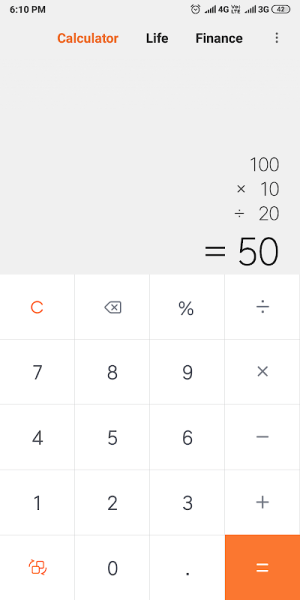 Mi Calculator 10.1.0 Screen 1