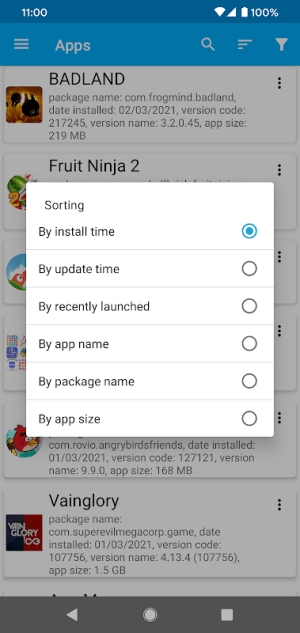 App Manager 5.5 Screen 6