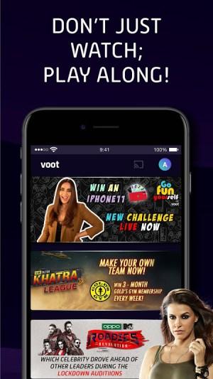 Voot Select Originals, Bigg Boss, MTV, Colors TV 4.0.7 Screen 3