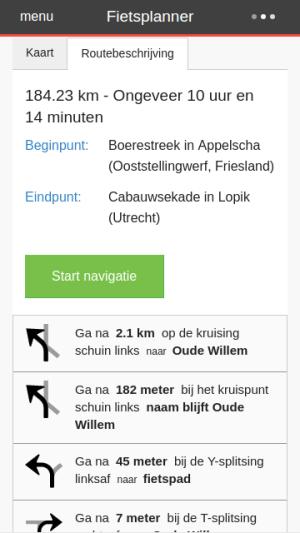 Fietsersbond Routeplanner 4.4.7 Screen 1