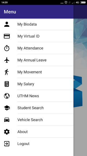 MyUTHM 4.0.4 Screen 1