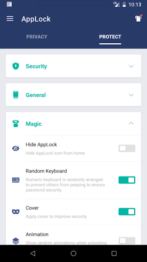 AppLock 2.9.8 Screen 1