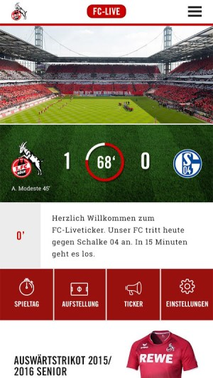 1. FC Köln App 1.15.3 Screen 1