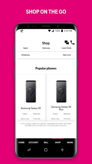 T-Mobile 7.15.0.168 Screen 3