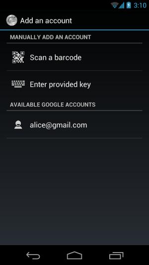 Google Authenticator 2.49 Screen 2