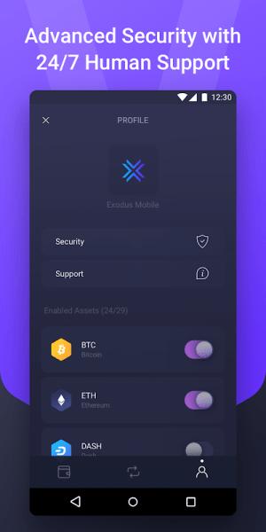 Android Exodus Crypto Wallet Screen 3