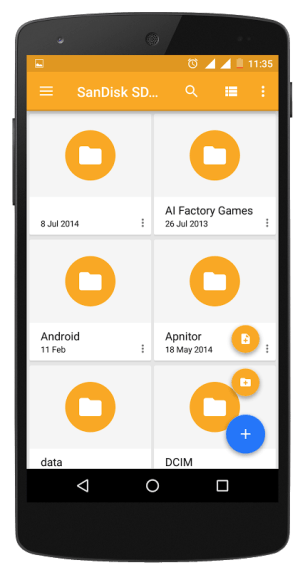 Android File Explorer Screen 3