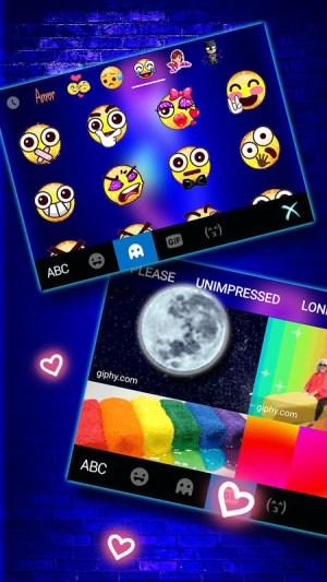 Love Heart Neon Keyboard Background 4.0.A Screen 3