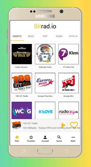 Android Bitradio - FM Radioplayer Screen 2