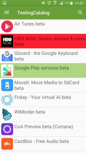 Beta TestingCatalog 3.20 Screen 1